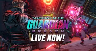 The latest Borderlands 3 free content update, Takedown at the Guardian Breach, provides a demanding, high-level challenge for all players, and is now available as a free addition to the Borderlands 3 base game.