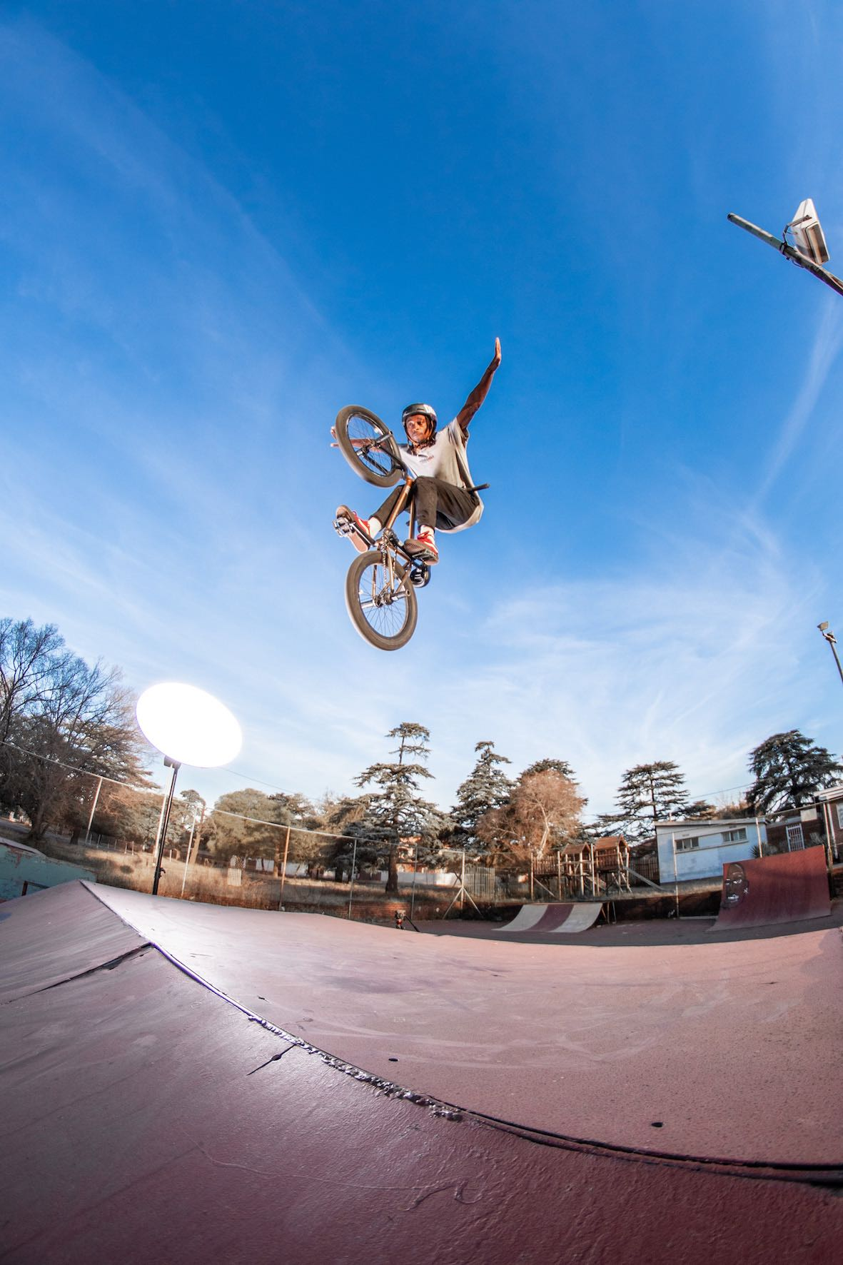 Tuck No-Hander with Nathi Steeze at his local BMX park