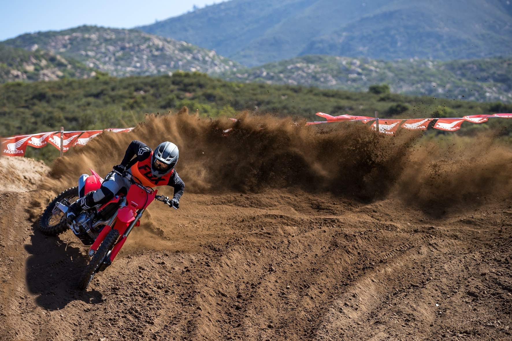 Cornering the 2021 Honda CRF450R