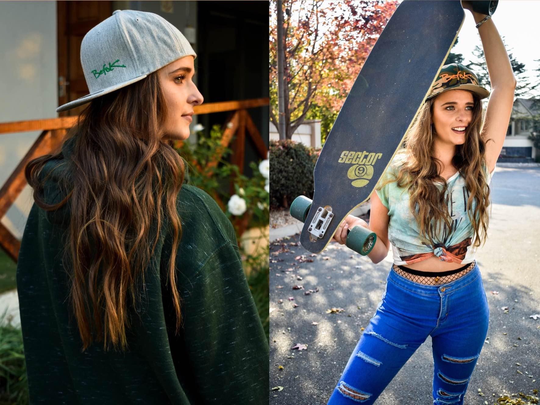 BEFOK Caps skateboard girl