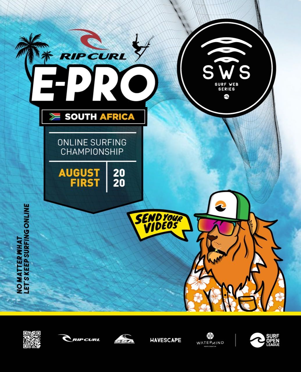 The second contest in the global Surf Web Series – The Rip Curl E-Pro Online Surf Event South Africa, kicks off on the 1 August