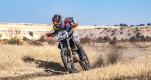 Ian Rall racing his KTM off road bike