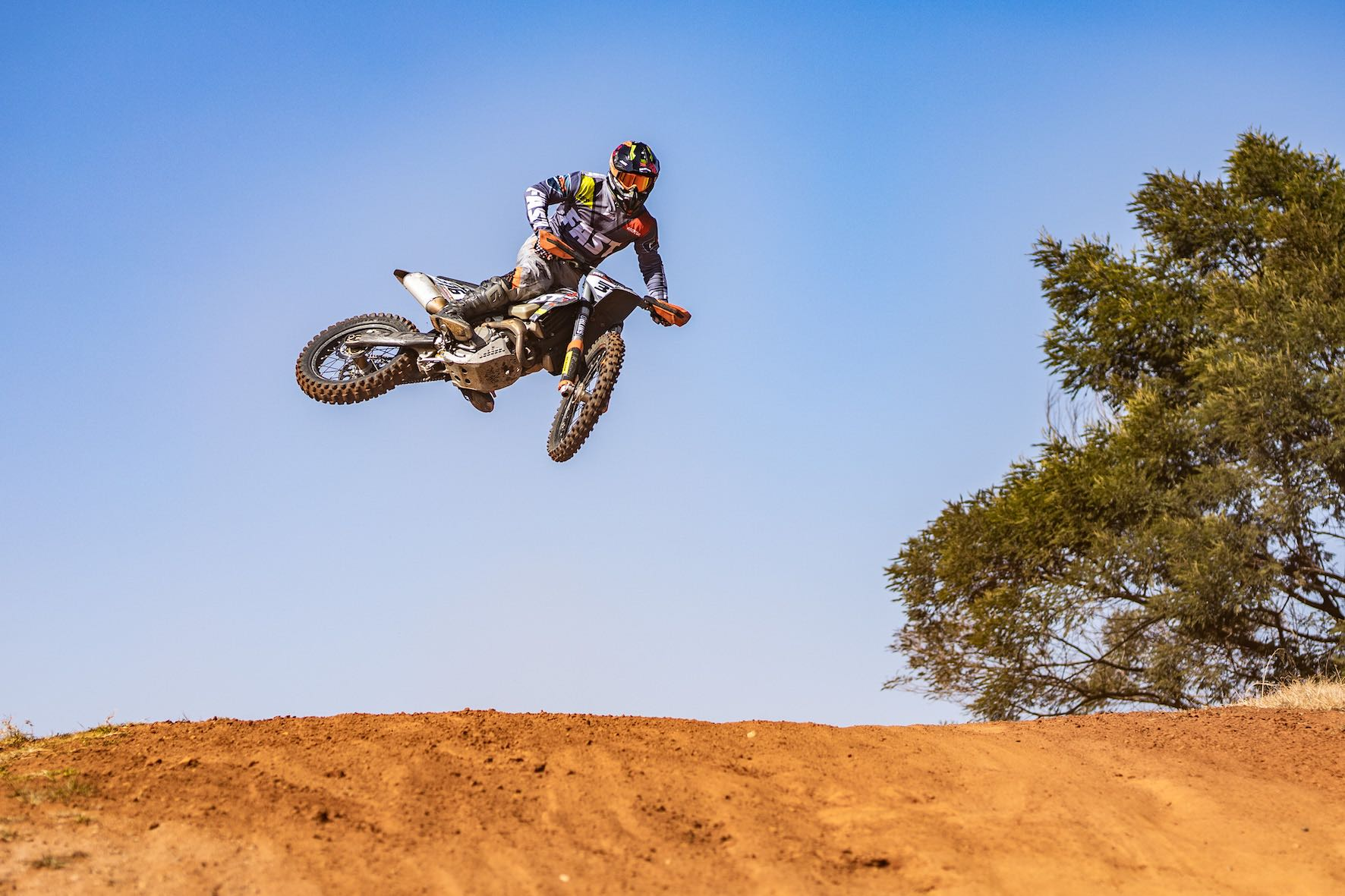 Ian Rall showing his skill on the motocross track