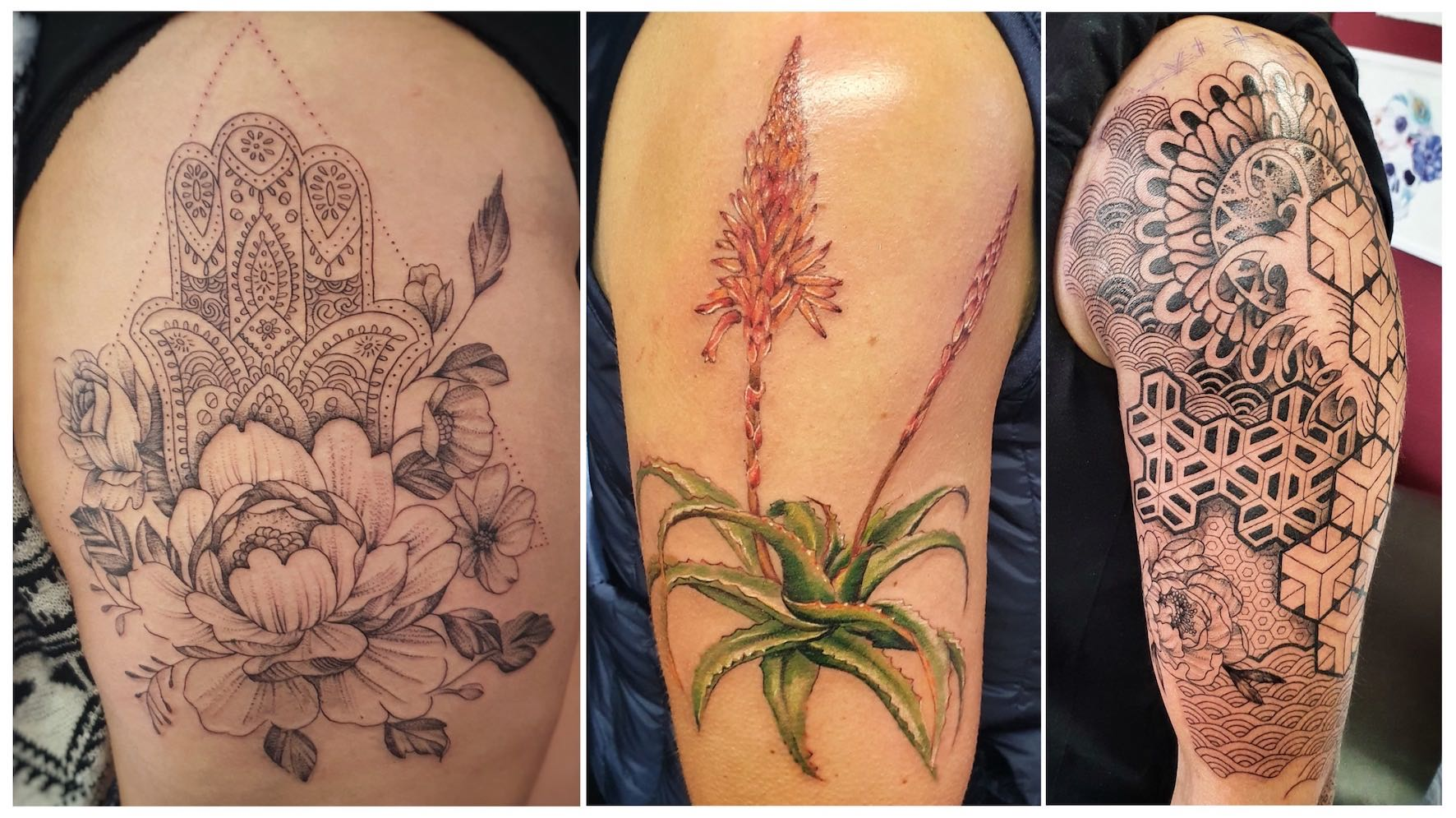 A selection of tattoos done by the talented Ting Thorne