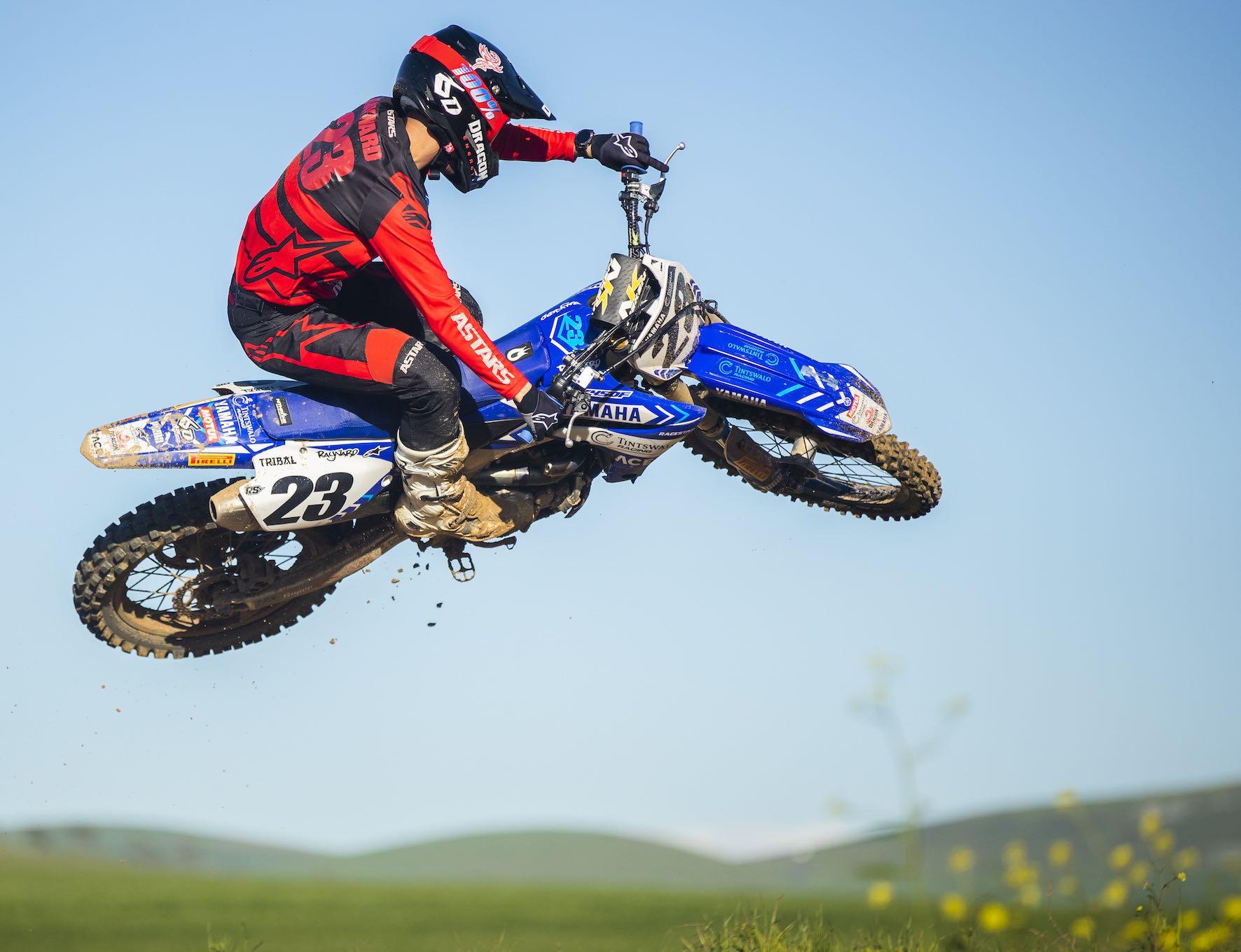 Anthony Raynard riding at Zone 7 motocross track