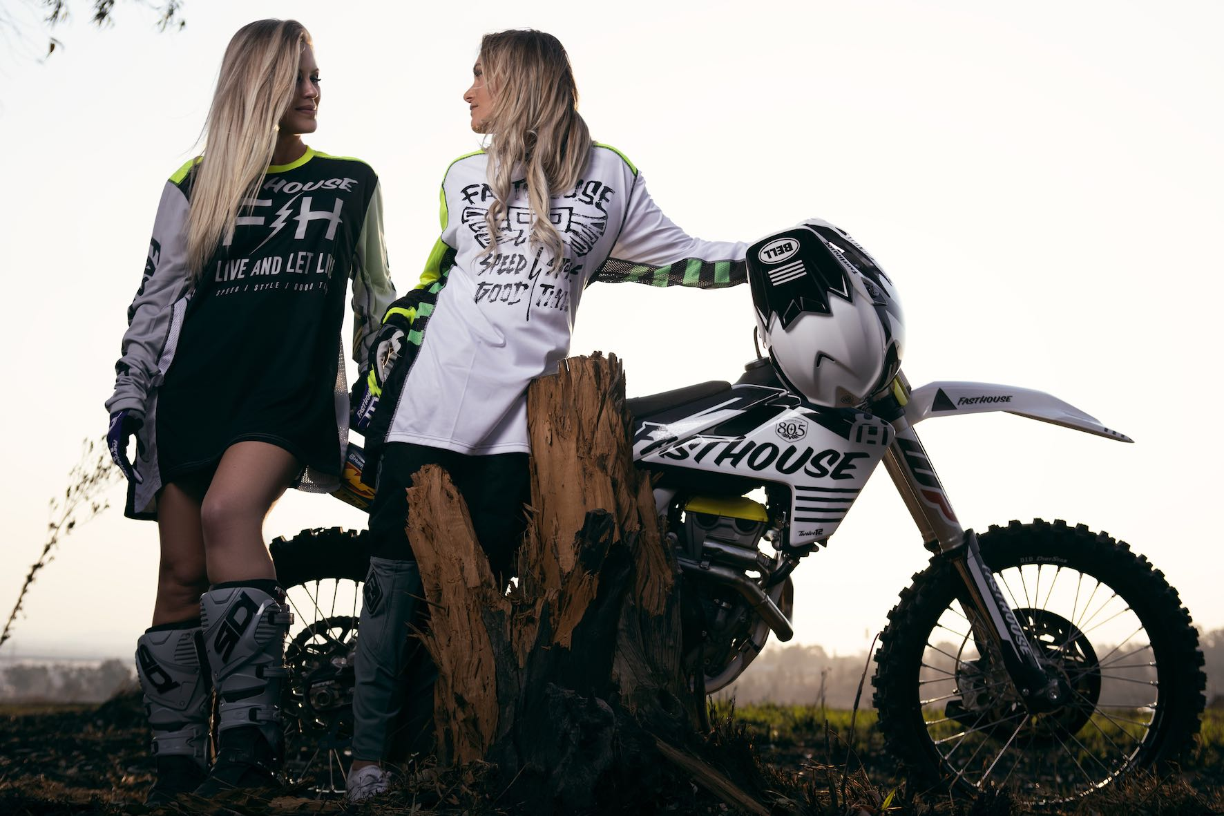 Fasthouse photo shoot with SA girls Kelly Roux and Laura Bishop