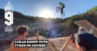 Get an updated inside look into the 2020 Audi Nines Freeride and Slopestyle Mountain Bike course build, and see Lucas Knopf put tyres down for the first time on the all-new Slopestyle line.