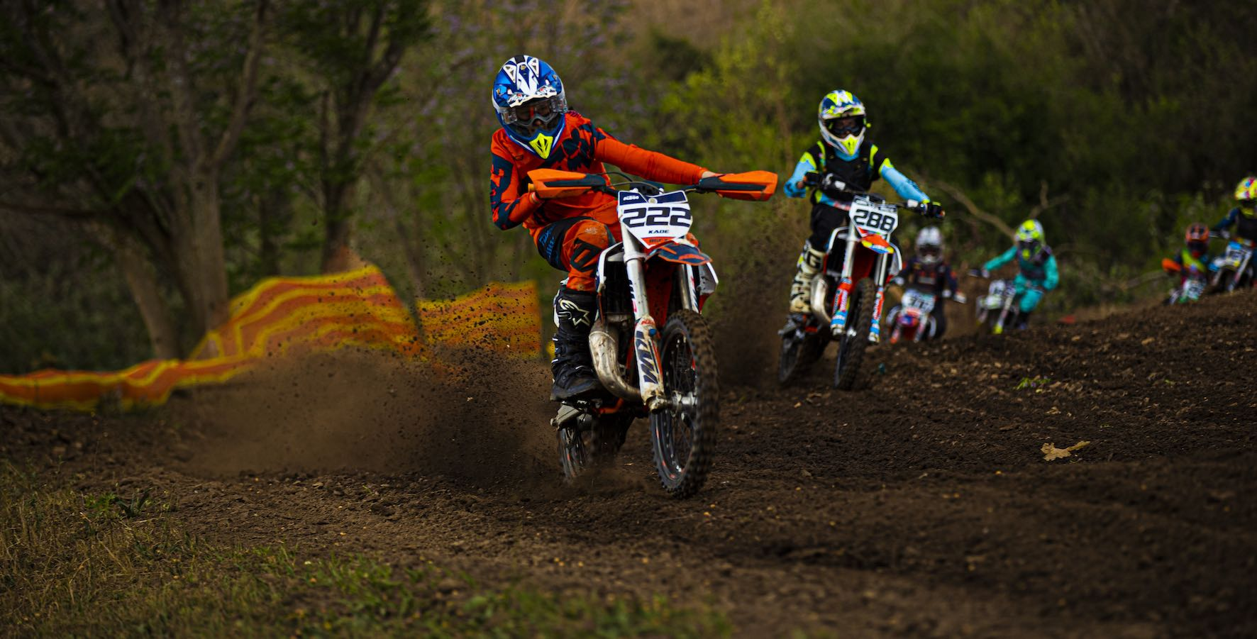 Kayde van Deventer racing in the Motocross Nationals at Thunder Valley