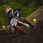 Johnathan Mlimi racing in the Motocross Nationals at Thunder Valley