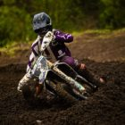 Maddy Malan racing to victory in the MX1 class at Round 2 of the 2020 South African National Motocross Championship