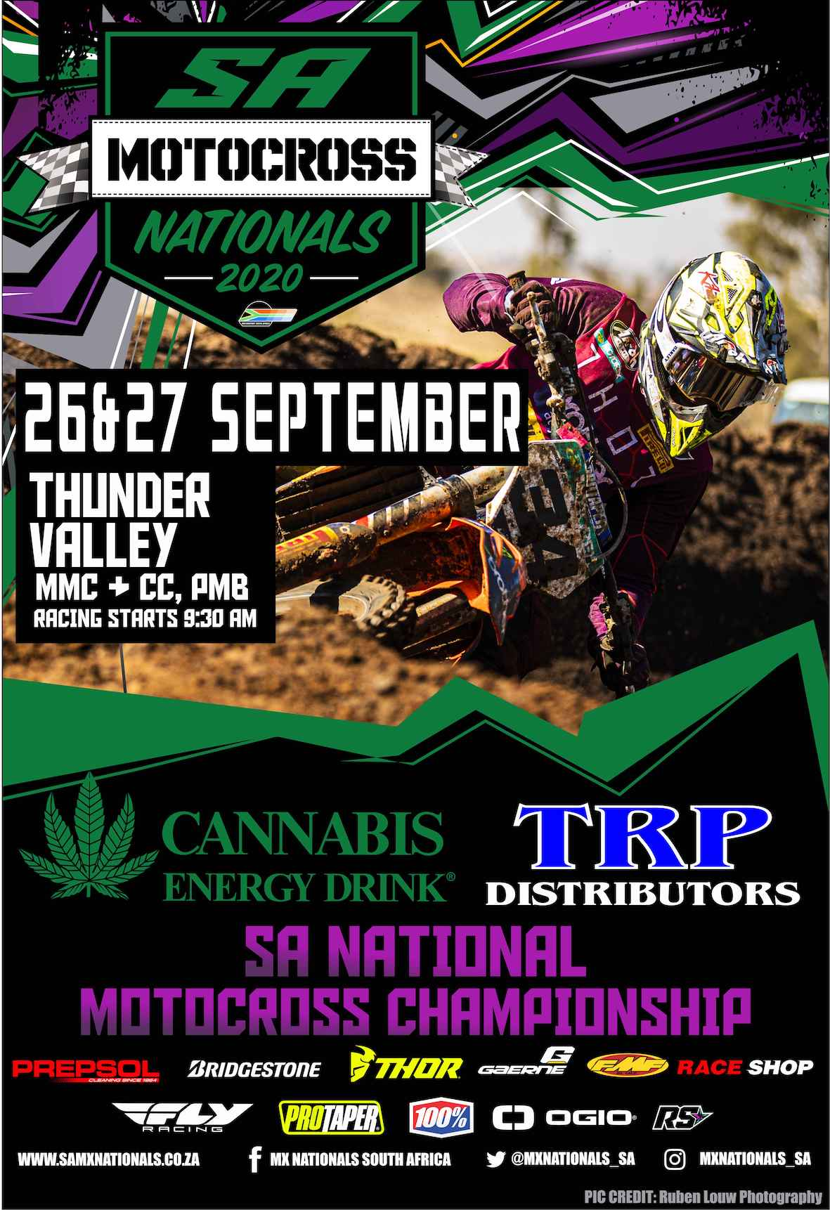 The 2020South African National Motocross Championshipreturns to action this weekend, 26 and 27 September, for in a double-header (Rounds 2 and 3) at Thunder Valley in Pietermaritzburg.