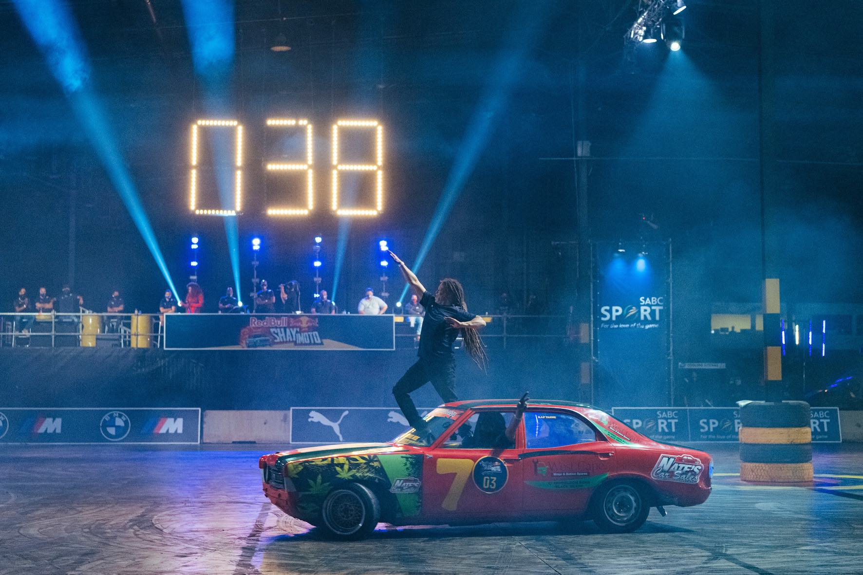 Second place finisher Eddie Rasta performs during Red Bull Shay' iMoto