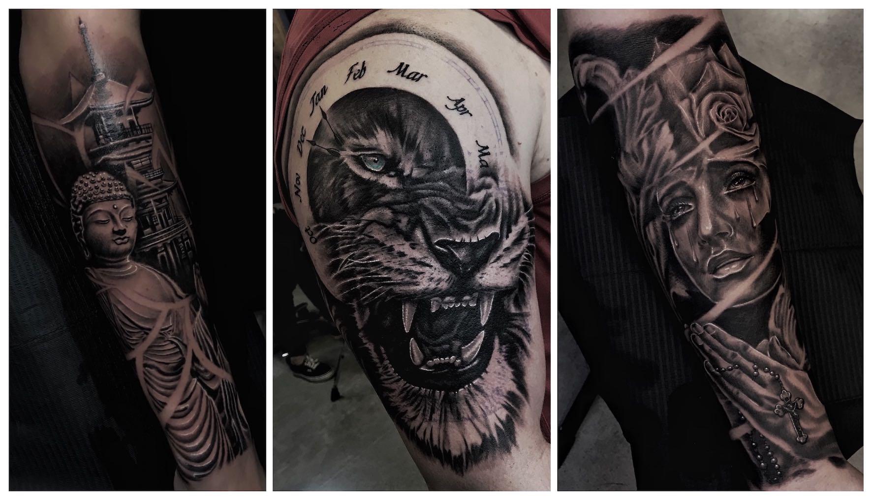 Tattoo work done by Larnelle Pienaar