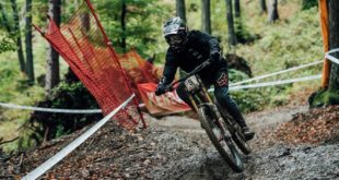 Loris Vergier racing Round 1 of the 2020 UCI Downhill MTN World Cup