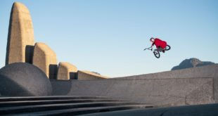 Presenting Shapes in the City featuring Murray Loubser. Watch as Murray is transported from the lecture room into an incredible BMX scene scape.