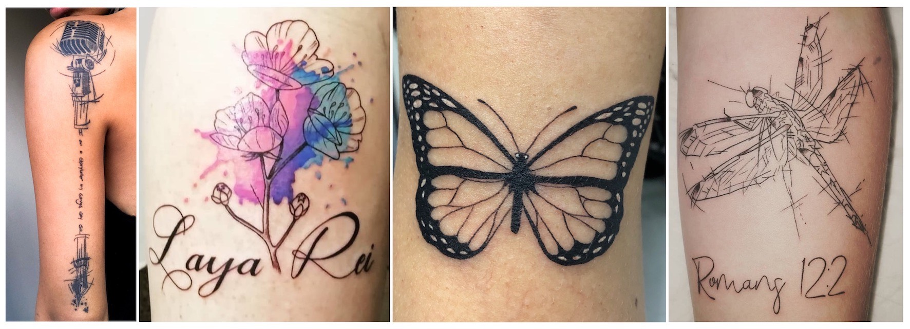 A selection of tattoos done by Lyndon Hoppolite