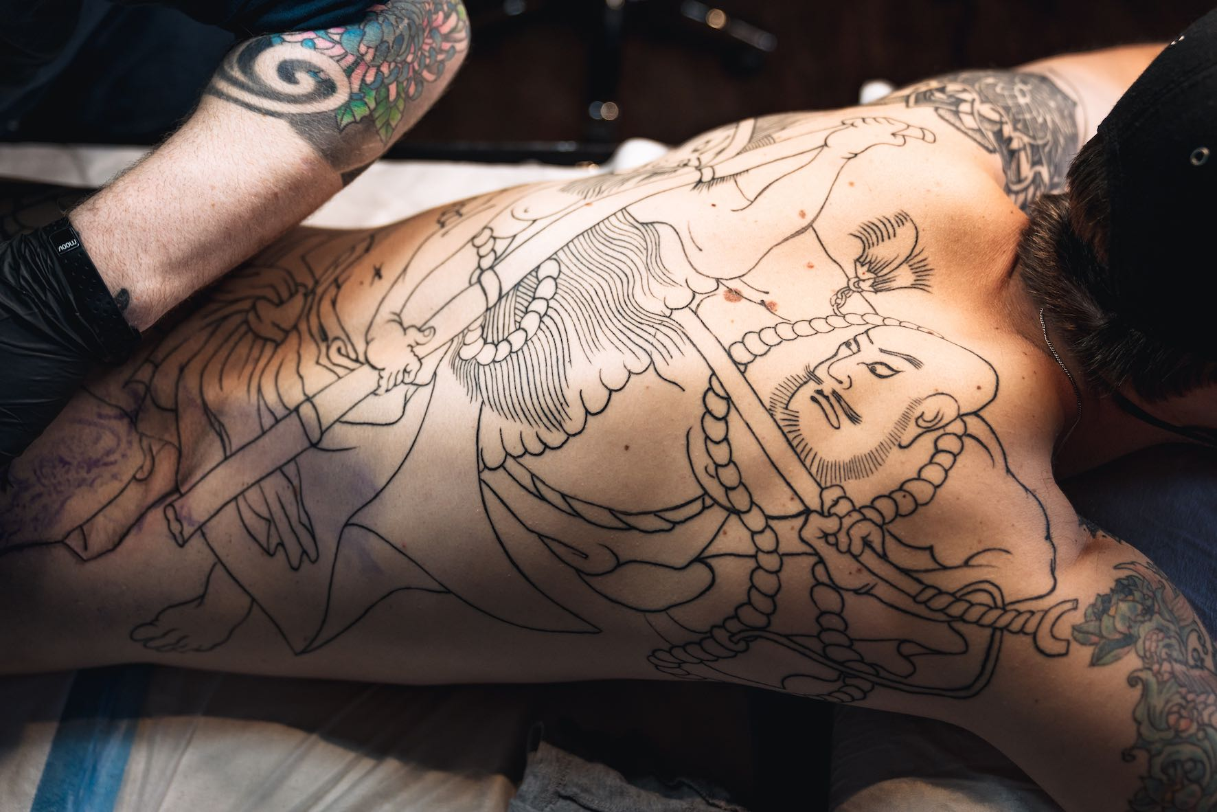 Traditional Japanese tattoo work by Daniel Feinberg