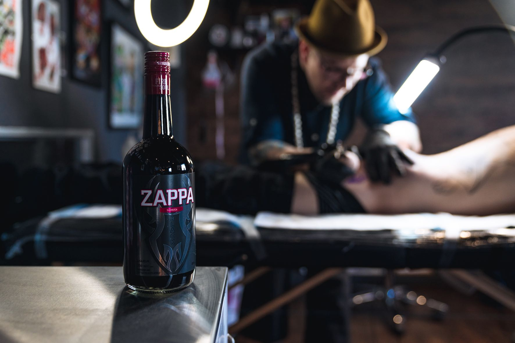 Our tattoo artist featured brought to you by Zappa Sambuca