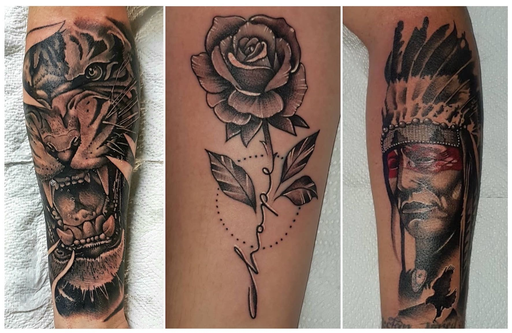 Tattoos done by Michael Palmer