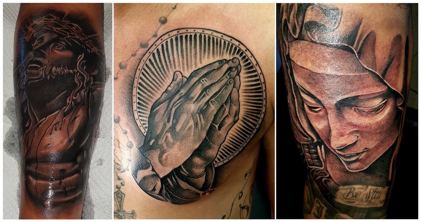 A selection of tattoos by Michael Palmer