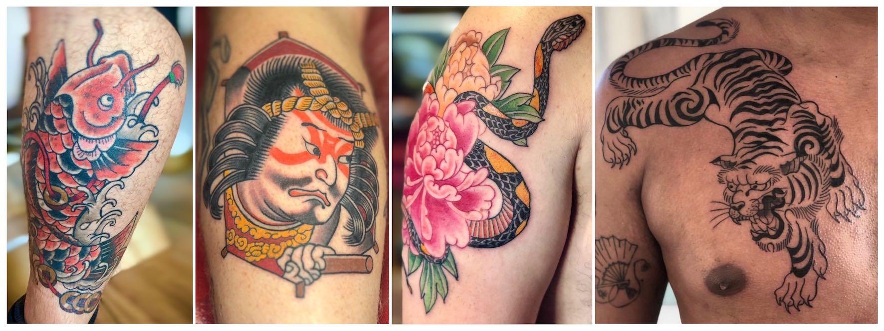 Japanese tattoos done by Daniel Feinberg