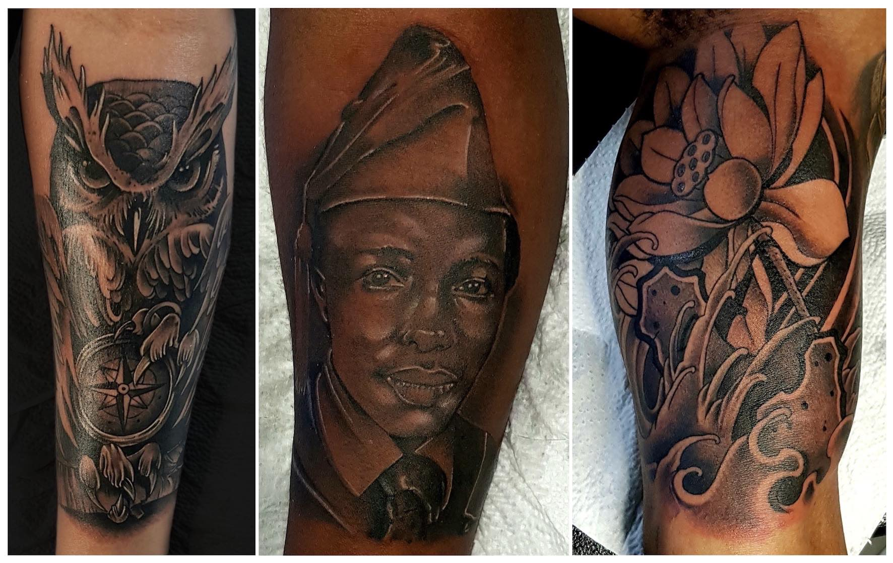 Tattoo work done by Michael Palmer