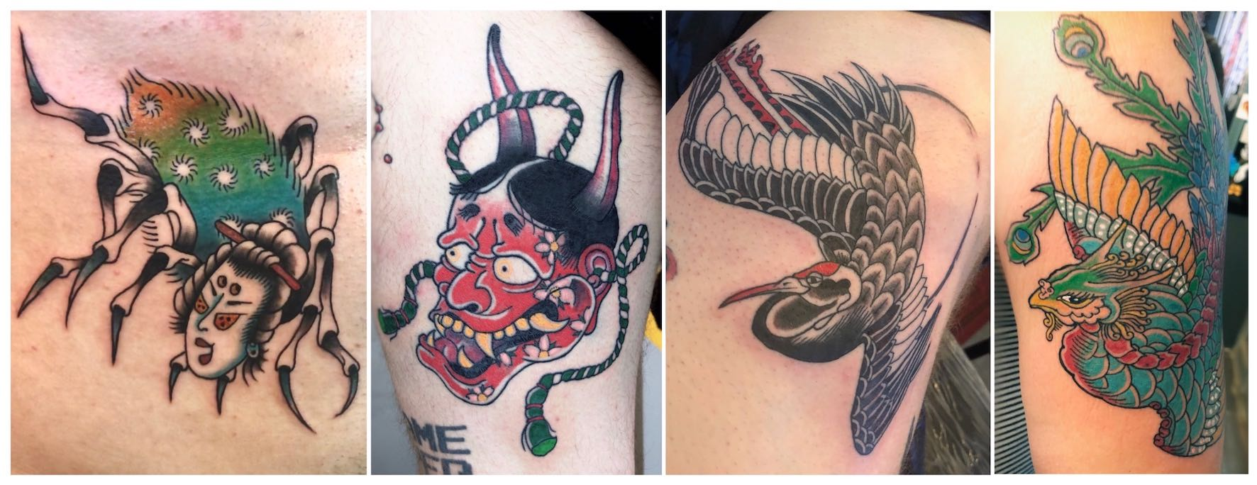 Traditional Japanese tattoos done by Daniel Feinberg