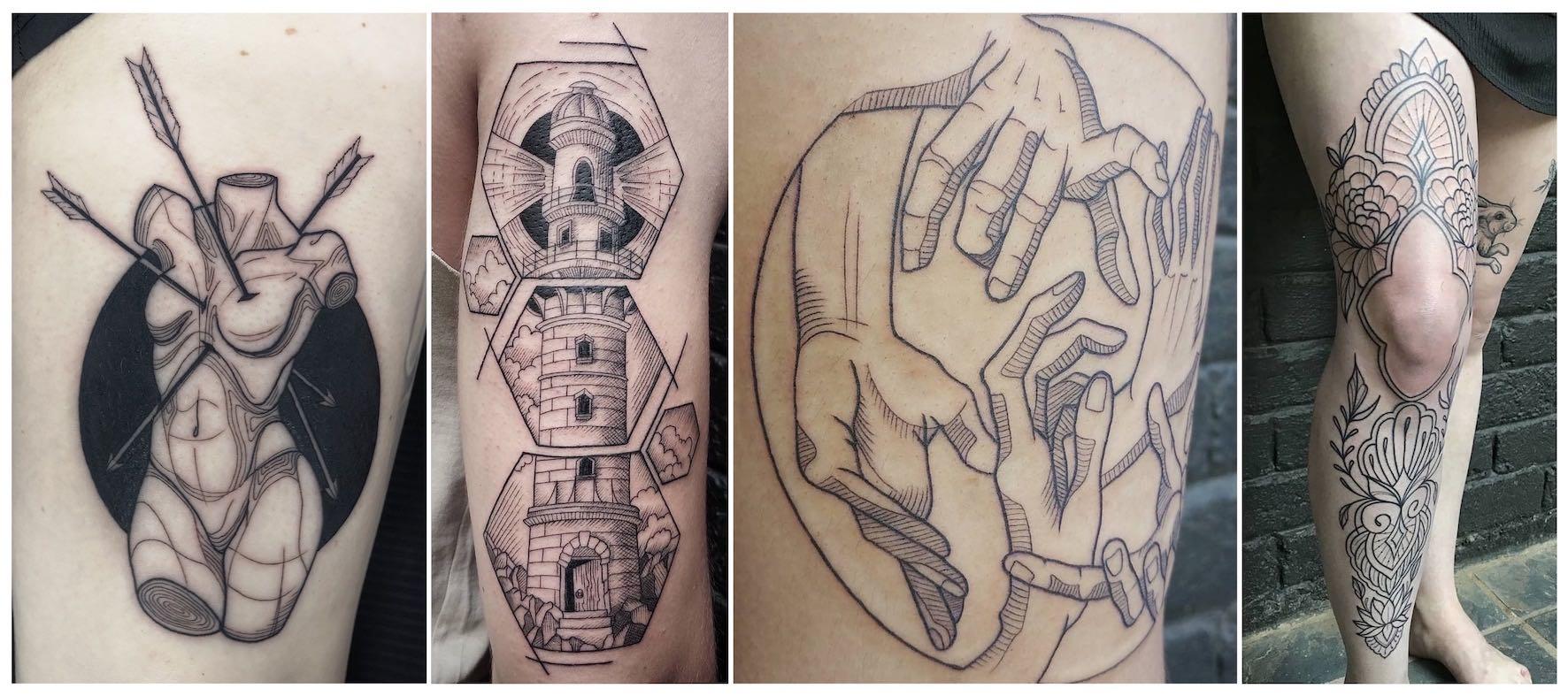 Tattoos done by Jade Alexandra