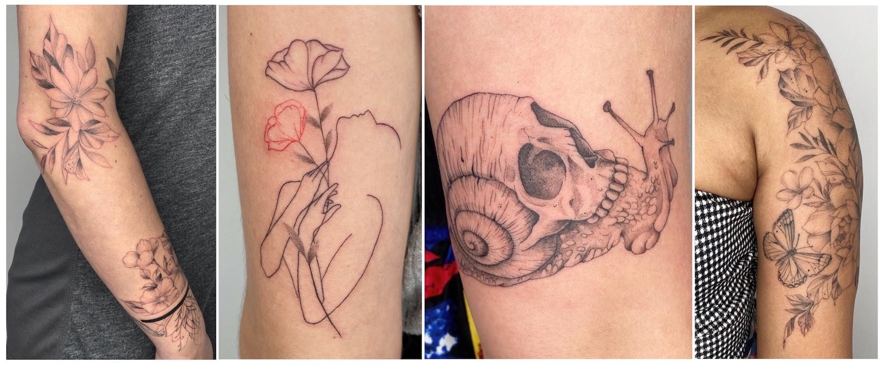 Tattoos done by Alyssa van der Merwe