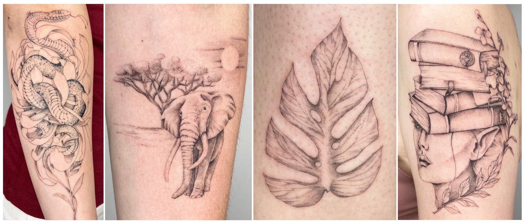 Tattoo work done by Alyssa van der Merwe