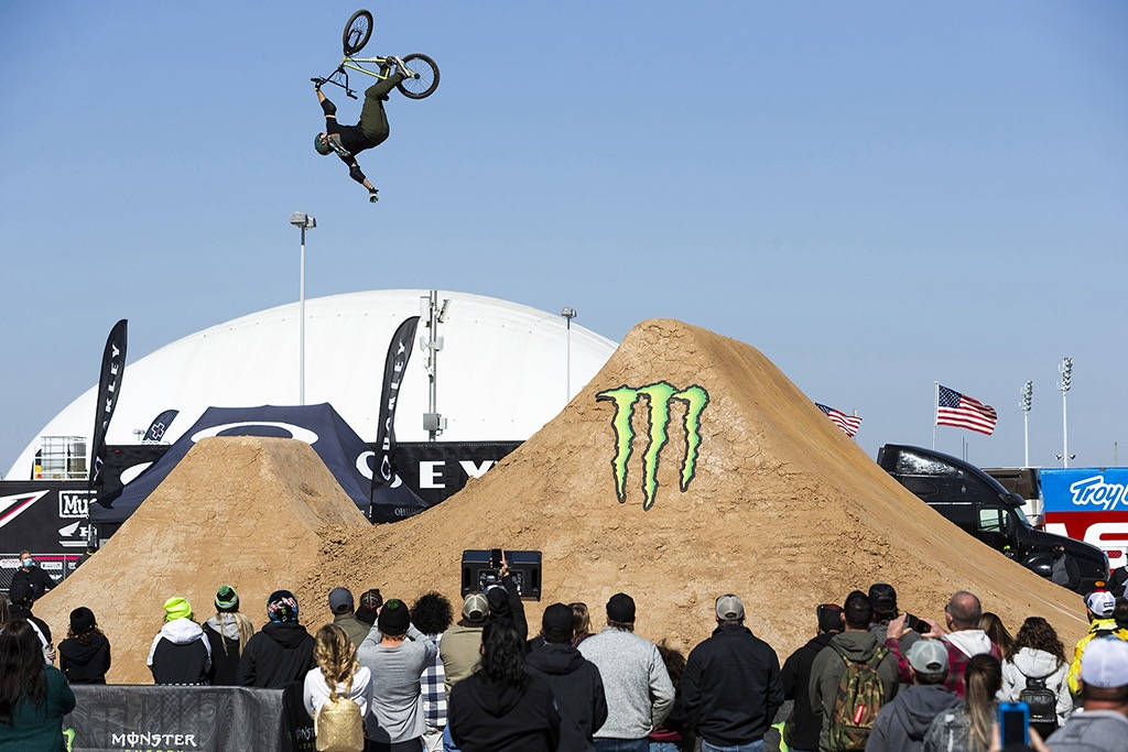 Ryan Nyquist riding in the Monster Energy BMX Triple Challenge