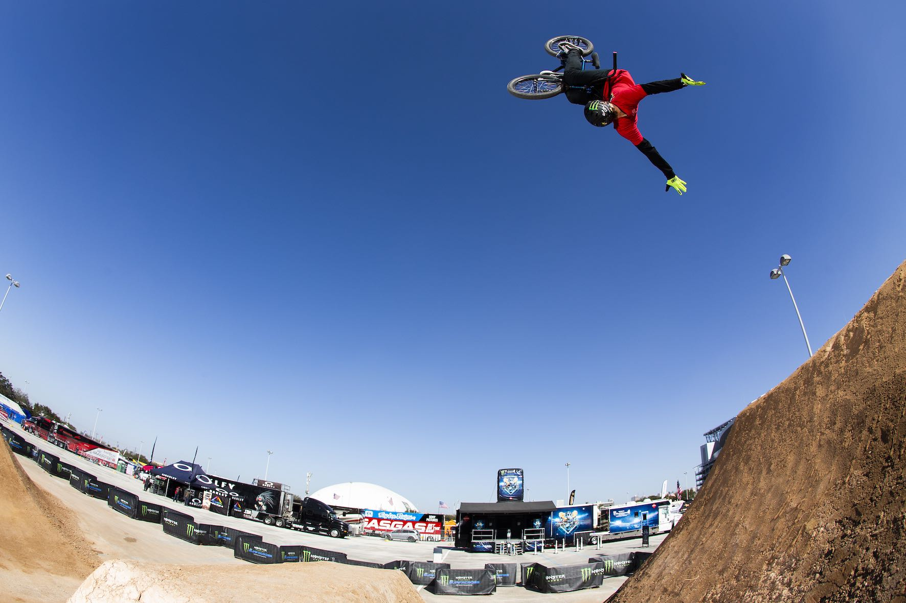 Andy Buckworth riding in the Monster Energy BMX Triple Challenge