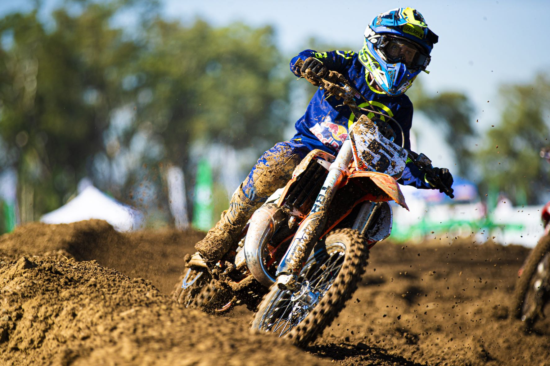 Tyler Petersen winning the 85cc class at Round 1 of the 2021 SA Motocross Nationals