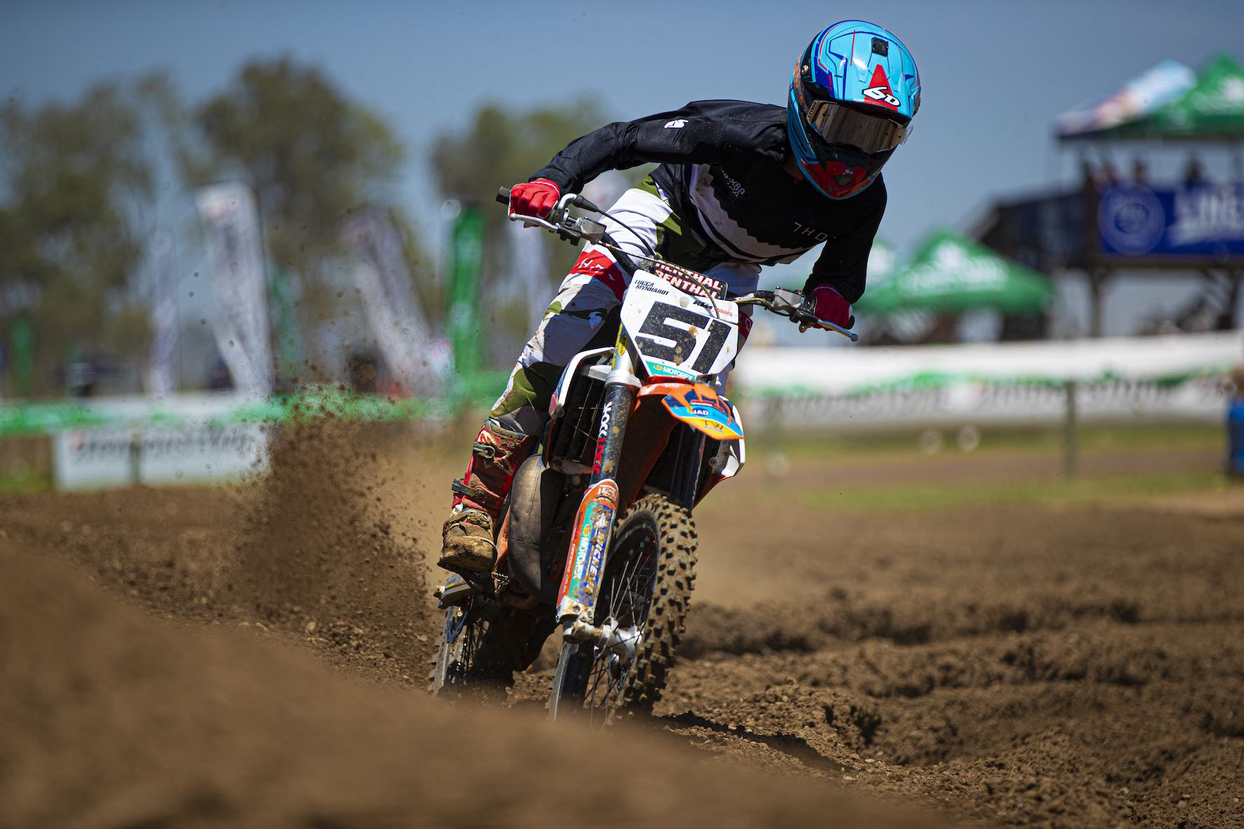 Lucca Mynhardt winning the 85cc Pro Mini class at Round 1 of the 2021 SA Motocross Nationals