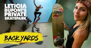 Pro skater Leticia Bufoni shows off her backyard skatepark in this episode on Red Bull Backyards.