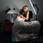 Sarah Jardim tattooing a client at Autumn Tattoo Studio