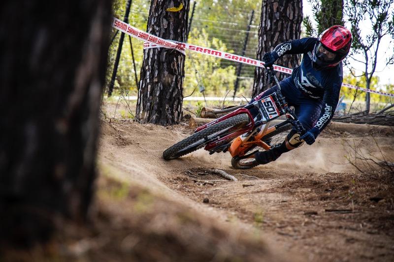 Johann Potgieter racing the 2021 SA National Downhill MTB Championships