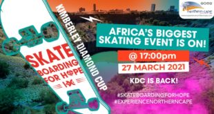 The best young talent from the Northern Cape will compete in the KDC Skateboarding for Hope tournament taking place at the country's premier skate plaza, the Kumba Skate Park, on Saturday 27 March.