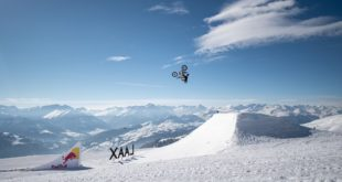 """Freestyle Motocross star Mat Rebeaud has taken """"eFMX"""" to new heights as he tackled the world famous Laax Snowpark for his SnoMX project."""