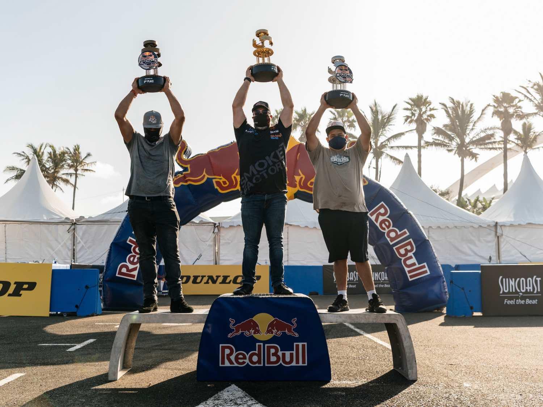 Red Bull Car Park Drift South Africa Qualifier podium