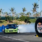 Morne Venter competing at the Red Bull Car Park Drift South Africa Qualifier