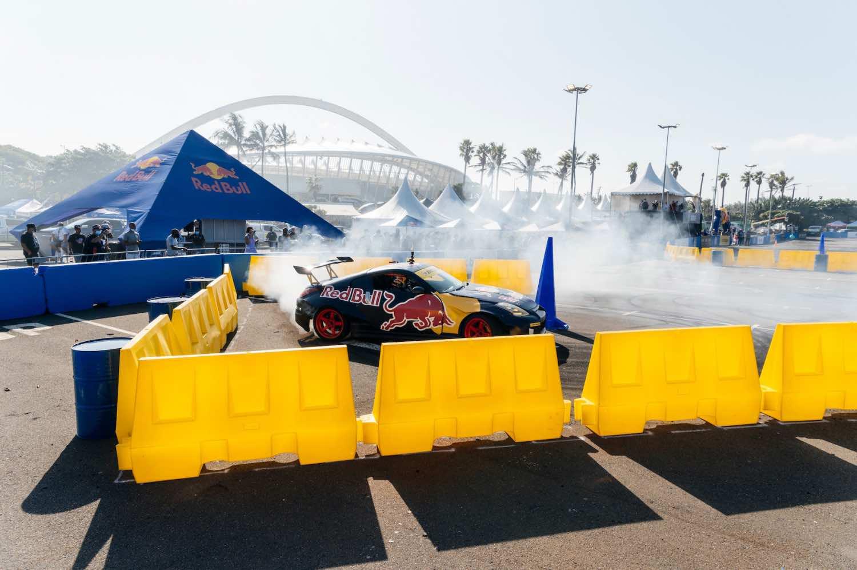 Abdo Feghali showcasing his Drifting skills at the inaugural Red Bull Car Park Drift South Africa Qualifier