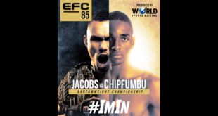 Local MMA action is back as EFC 85 is set to take place on Saturday 8 May – making its return to form with its first event since the South African national lockdown. The fight card is headlined by the Bantamweight Title Fight between champion Faeez Jacobs and Sylvester Chipfumbu.