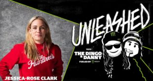 Monster Energy presents Unleashed with The Dingo and Danny Podcast. The third episode, features one of the hardest-hitting women in mixed martial arts Jessica Rose Clark.