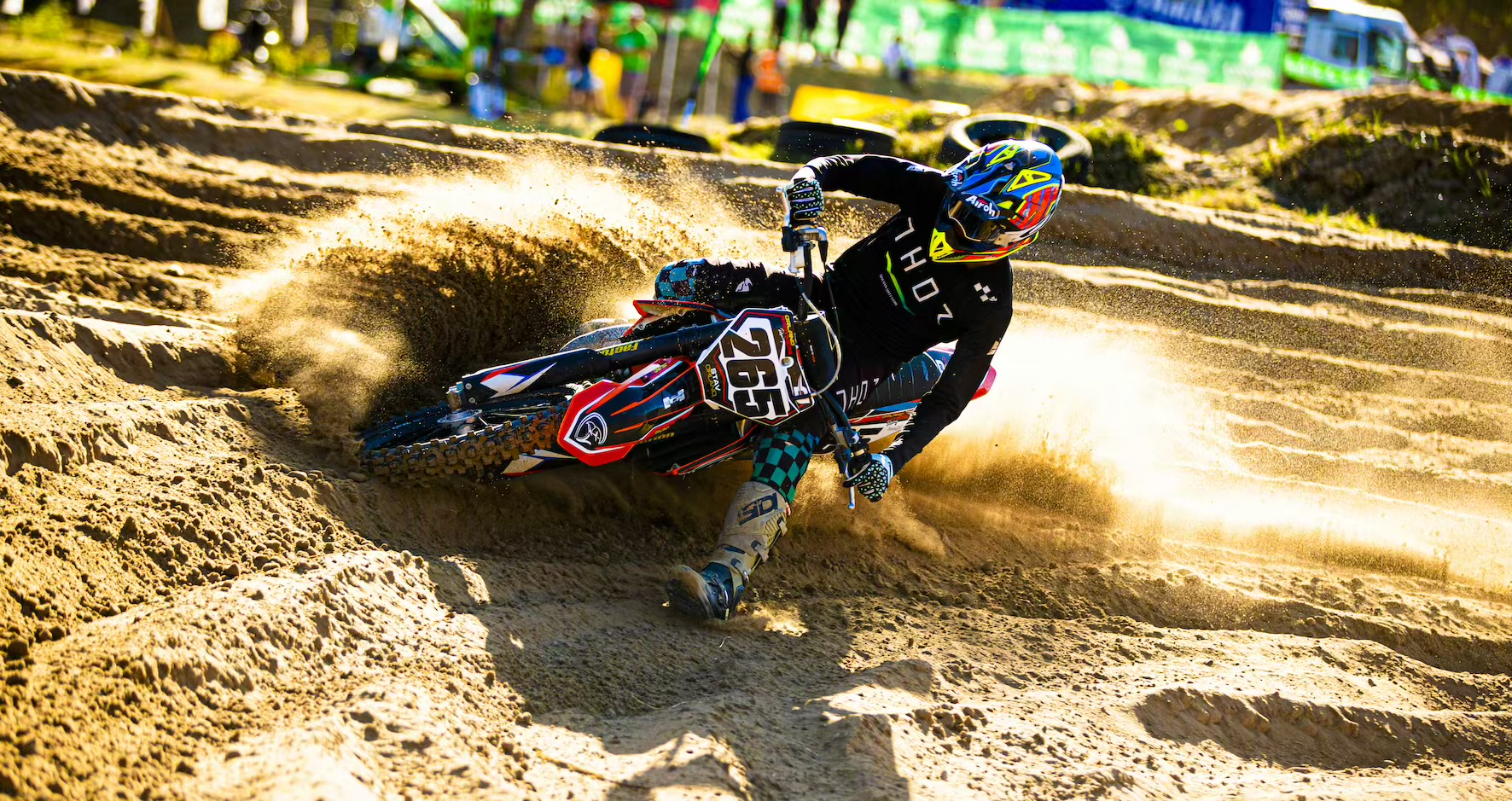 Stav Orland racing Round 2 of the 2021 South African National Motocross Championship