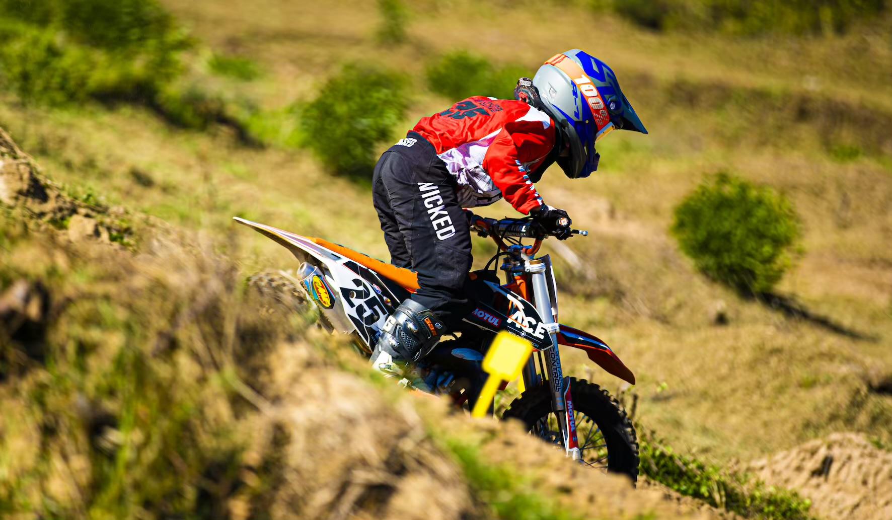 Jake van Schoor racing Round 2 of the 2021 South African National Motocross Championship