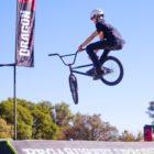 Mark Pienaar competing at the Park Lines BMX Tournament