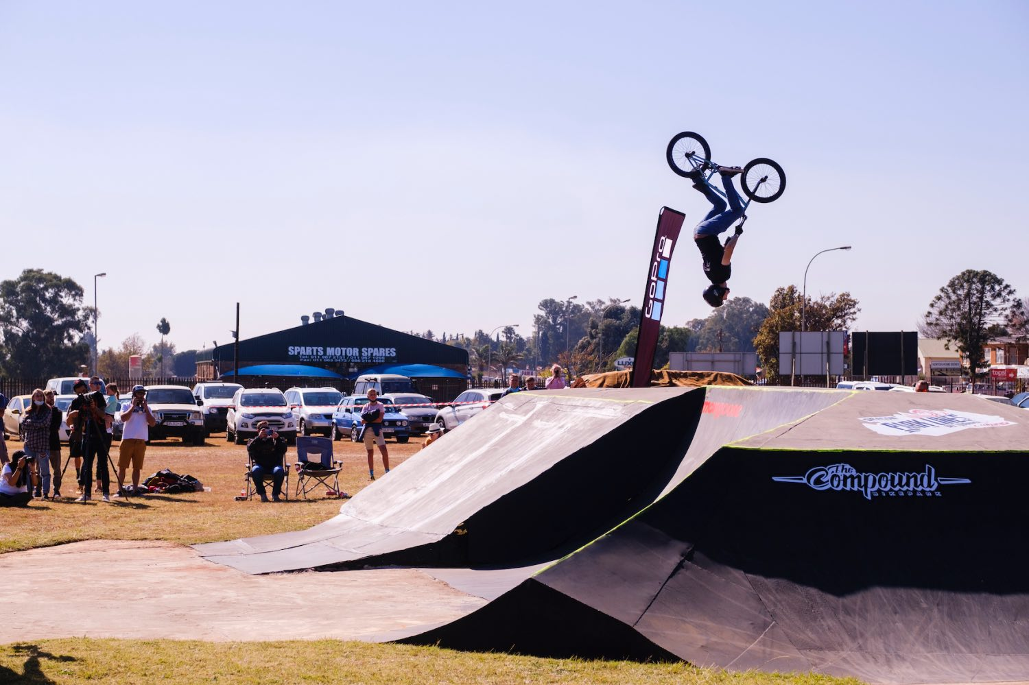 Francois Bodenstein competing at the Park Lines BMX Tournament
