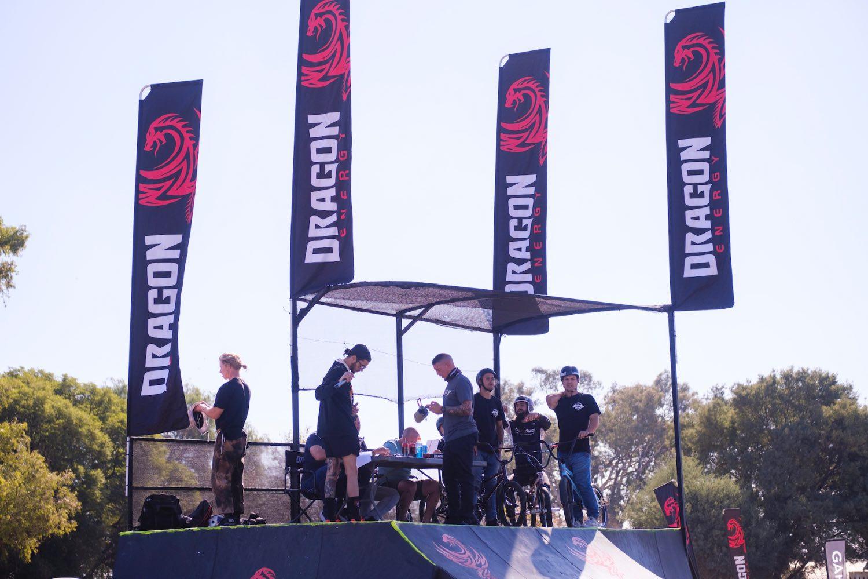 Judges platform at the Park Lines BMX Tournament