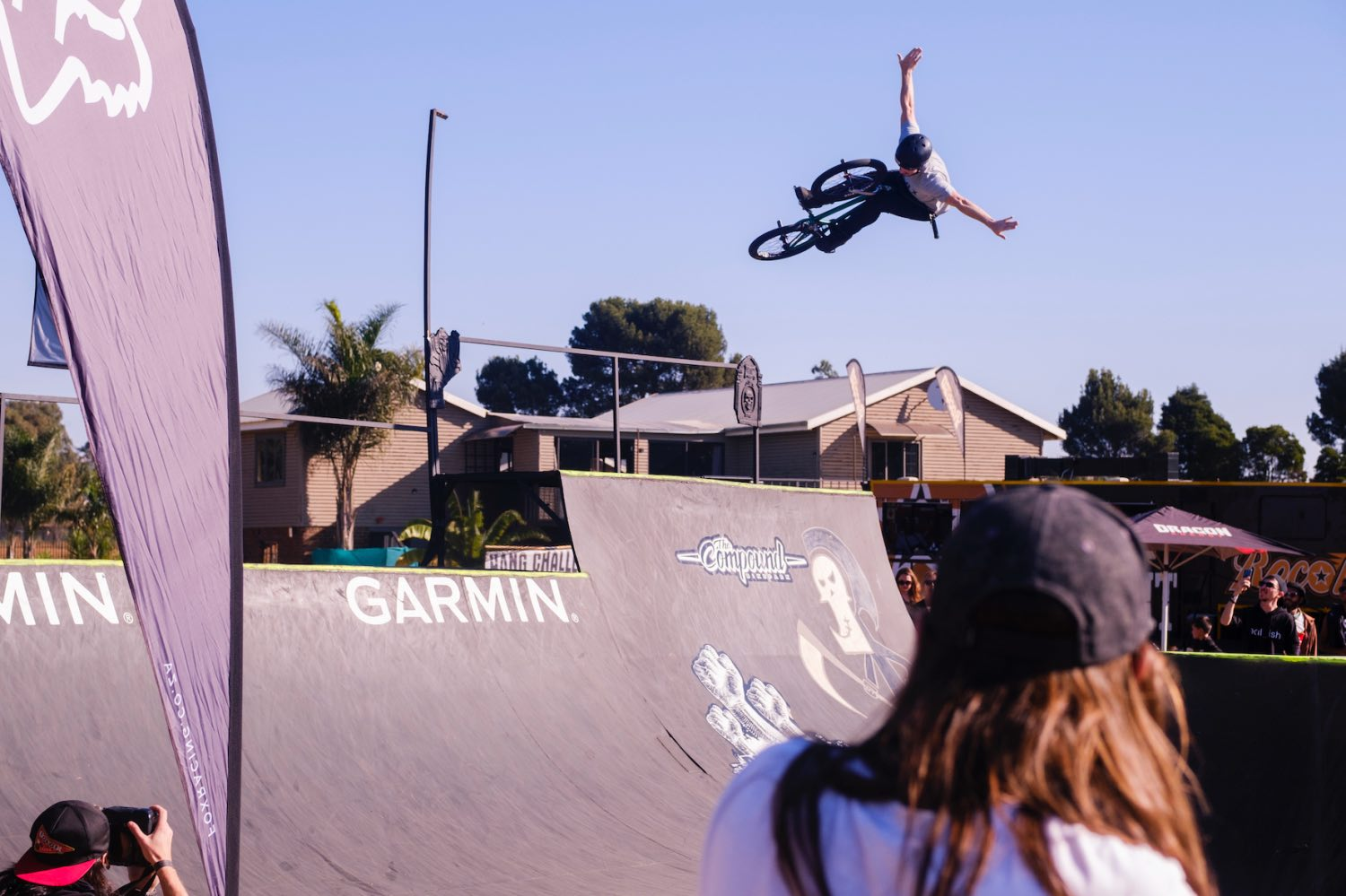 Matty Duffy competing at the Park Lines BMX Tournament